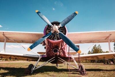 Картина Старый самолет. Вiplane.