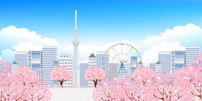 Картина 桜 東京 春 背景
