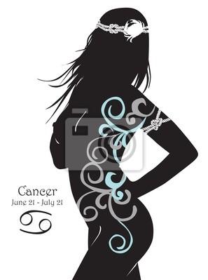 Стилизованный знак зодиака Сancer