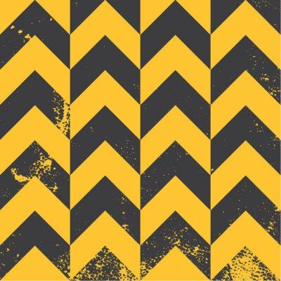 Картина yellow chevron pattern with distressed texture