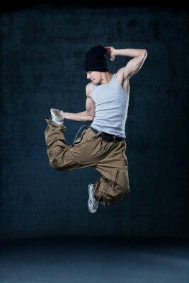 Картина Молодые хип-хоп танцор прыжки