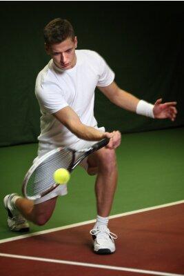 Картина Молодой человек, играть в теннис