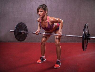 Картина Молодая женщина в фитнес сессии