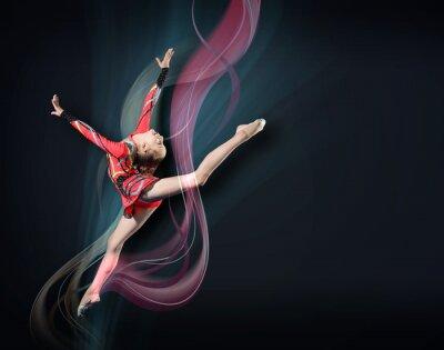 Картина Молодая женщина в гимнастка костюм позирует