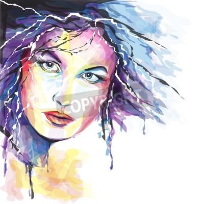 Картина Молодая женщина Portait