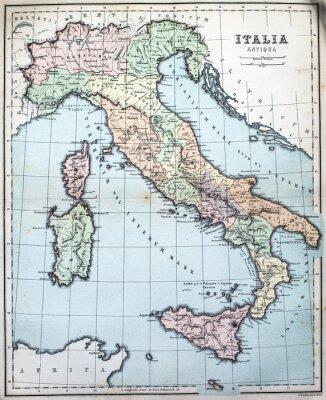 Фотообои карта 19-го века римской Италии