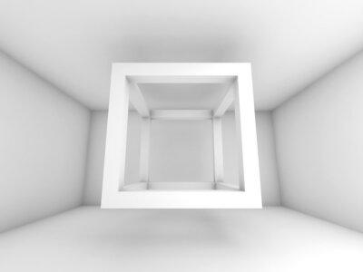 Фотообои 3d иллюстрации фона, полет пустой куб света