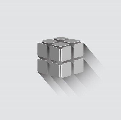 Фотообои 3D значок куб