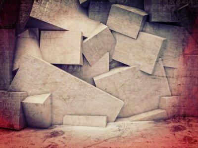 Фотообои 3d геометрическая стена