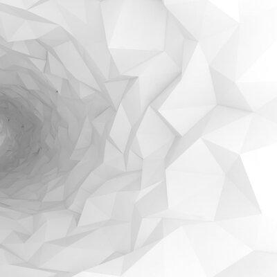 Фотообои 3d туннель с хаотическим многогранных поверхностей