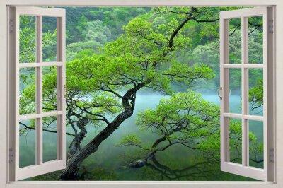 Фотообои 3d wallpaper lake and sea or waterfall