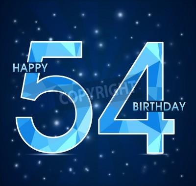 Открытка с днем рождения 54 года