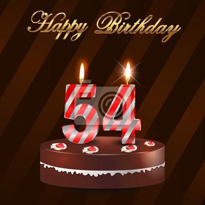 Поздравление с днем рождения на 54 года