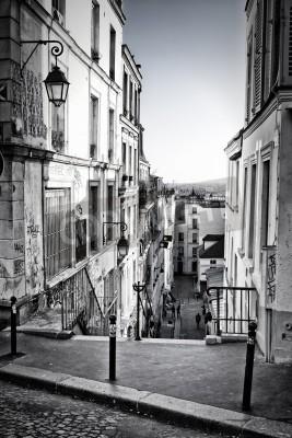 Фотообои Улочка на Монмартре Париж, Франция
