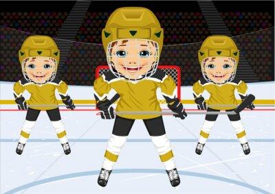 Фотообои Молодой хоккейная команда в форме