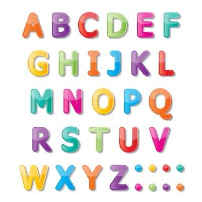 Фотообои шрифт ABC