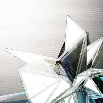 Фотообои Абстрактный 3D фон кристалл вектор