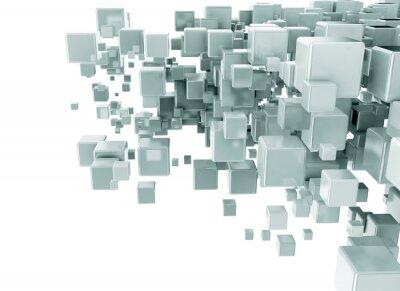 Фотообои Абстрактный фон 3d кубов