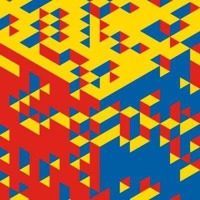 Фотообои Абстрактный 3d геометрический фон. Мозаика. Векторная иллюстрация.