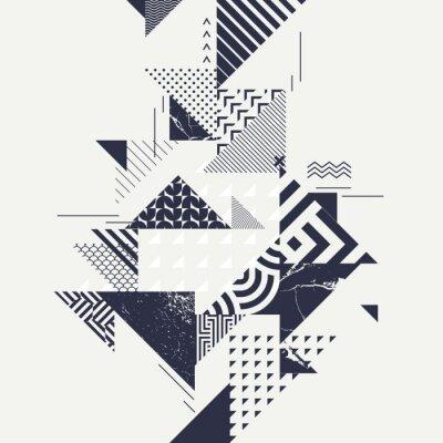 Фотообои Абстрактный фон искусства с геометрическими элементами