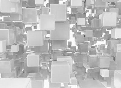 Фотообои Абстрактный фон из металлических кубов