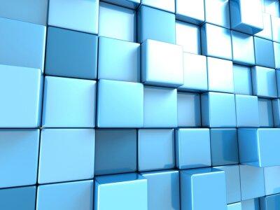 Фотообои Абстрактный синий фон кубов обои