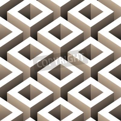 Фотообои abstract boxes 3d seamless pattern