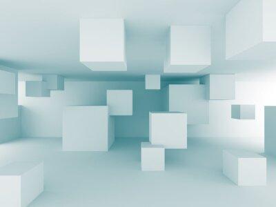Фотообои Аннотация хаотическая Кубики Строительство дизайн