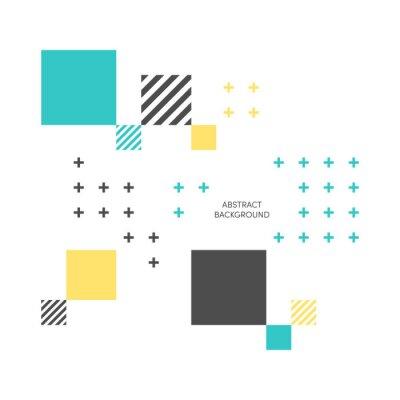 Фотообои Абстрактные красочные геометрические изометрические фон векторных иллюстраций
