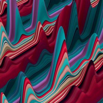 Фотообои абстрактные красочные волнистые линии, 3d фон