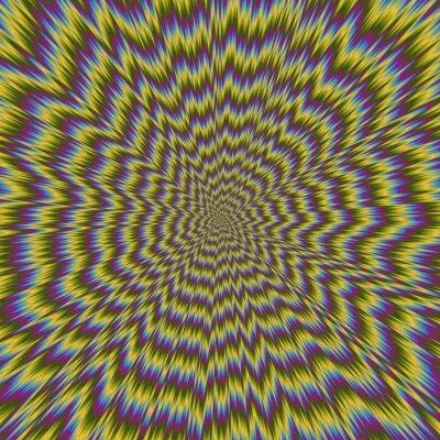 Фотообои Абстрактные красочные иллюстрации гипнотического ярким рисунком