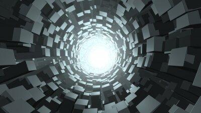Фотообои Абстрактный куб червоточина