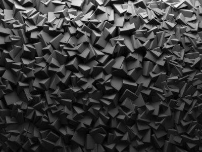 Фотообои Аннотация Темный хаотическая Cube формирует фон.
