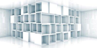 Фотообои Аннотация пустой 3d интерьер комнаты с кабинетом в углу