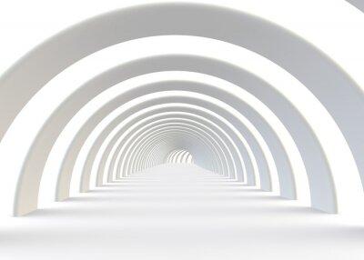 Фотообои Абстрактный футуристический туннель в современном стиле