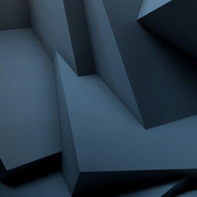 Фотообои Абстрактный геометрический фон с перекрывающимися кубами