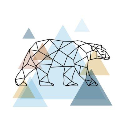 Фотообои Абстрактный геометрический медведь.