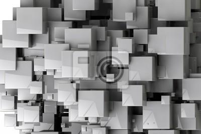 Фотообои Абстрактный фон геометрических кубов 3D визуализации