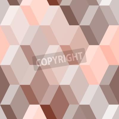 Фотообои Абстрактный геометрический бесшовный узор в розовый и коричневый, вектор