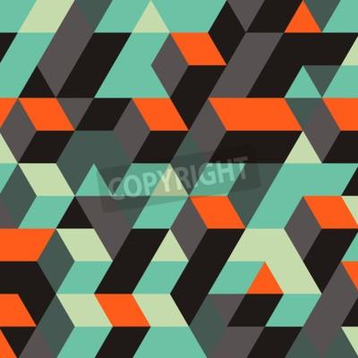 Фотообои Абстрактный геометрический 3d фон. Может использоваться для обоев, веб-страниц, веб-баннеров.