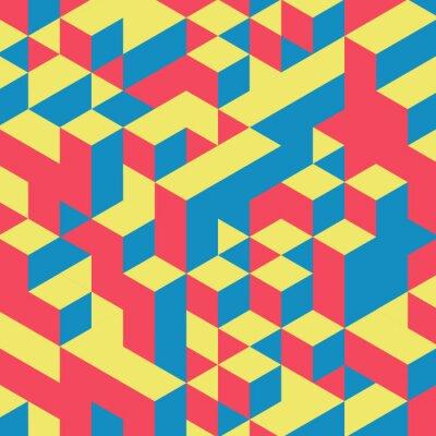 Фотообои Аннотация геометрической 3d красочный фон.