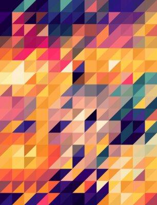Фотообои Аннотация золотые и синие треугольники фон