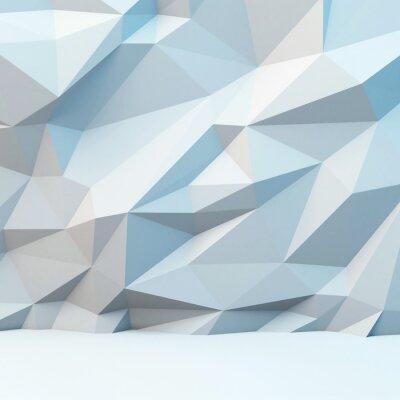 Фотообои Абстрактный серый фон с полигональной картины. 3d изображение