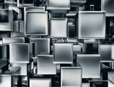 Фотообои Абстрактный образ фоне металлические кубики