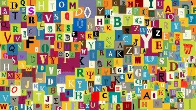 Фотообои Фон абстрактные буквы