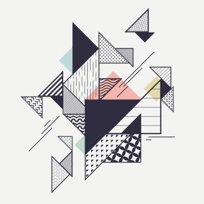 Фотообои Абстрактная современная геометрическая композиция