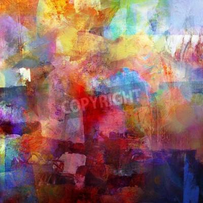 Фотообои абстрактный нарисованный фон - создается путем объединения различных слоев краски