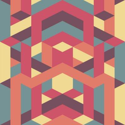 Фотообои абстрактные ретро геометрический рисунок
