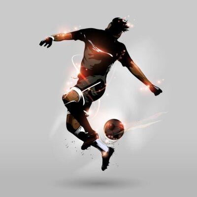 Фотообои абстрактный футбол прыжки с сенсорным мяч