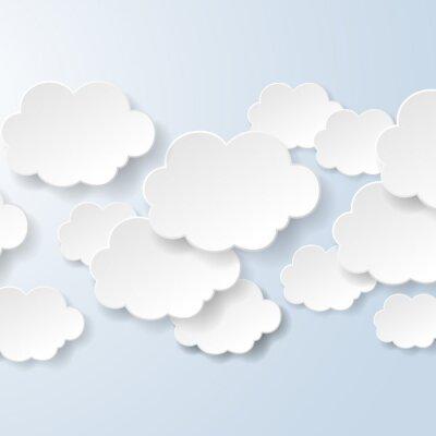 Фотообои Аннотация пузыри речи в форме облаков, используемых в социальной